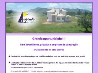 Thumbnail do site Investimento em Tijucas, Santa Catarina