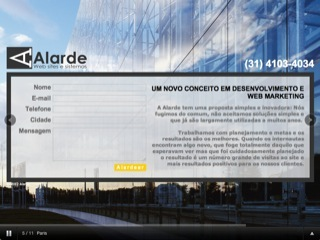 Thumbnail do site Alarde Agencia Web