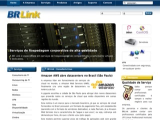 Thumbnail do site BR Link - Consultoria Linux