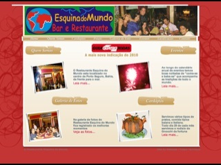 Thumbnail do site Esquina do Mundo - Bar e Restaurante