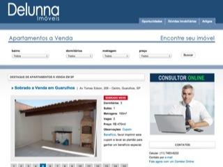 Thumbnail do site Delunna Imóveis