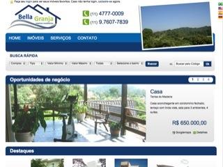 Thumbnail do site Bella Granja - negócios imobiliários