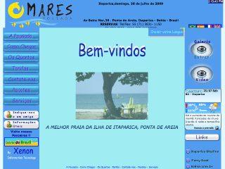Thumbnail do site Pousada Mares