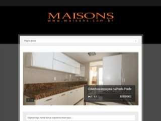 Thumbnail do site Maisons Imóveis