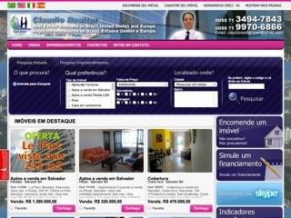 Thumbnail do site Claudio Realtor - Negócios Imobiliários