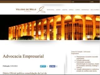 Thumbnail do site Veloso de Melo Advgados