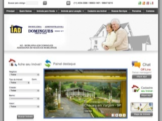 Thumbnail do site IAD - Imobiliária Adm Domingues