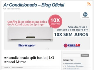 Thumbnail do site Ar Condicionados Web