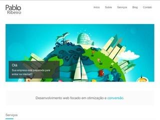 Thumbnail do site Pablo Ribeiro - Criação e otimização de sites