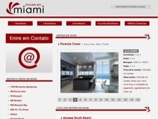 Thumbnail do site Imóveis em Miami