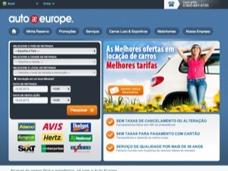 Thumbnail do site Auto Europe