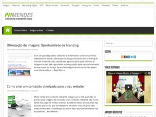 Thumbnail do site Phmendes Consultoria de Marketing Digital