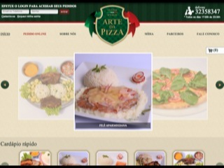 Thumbnail do site Arte da Pizza - Restaurante e pizzaria