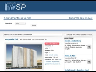 Thumbnail do site Apartamentos a venda em SP