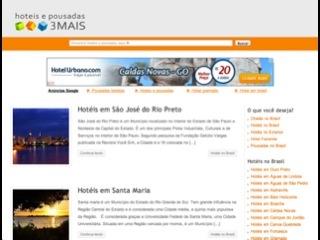 Thumbnail do site Hotéis e Pousadas 3 Mais