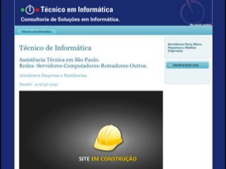 Thumbnail do site Daniel - Técnico de Informática