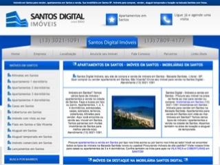 Thumbnail do site Santos Digital Imóveis