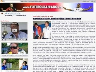 Thumbnail do site Blog Futebol Baiano