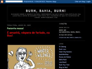 Thumbnail do site Burn, Bahia, Burn!
