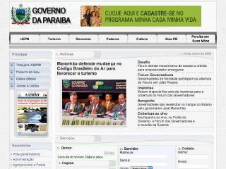 Thumbnail do site Site oficial da PBTUR - Agência Paraibana de Turismo S.A.