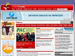 Thumbnail do site Portal Paraíba