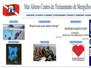Thumbnail do site Mar Aberto - Operadora e Escola de Mergulho
