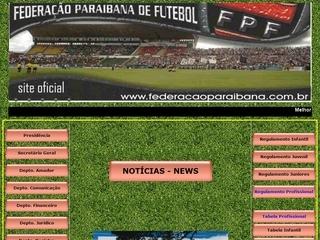 Thumbnail do site FPF - Federação Paraibana de Futebol
