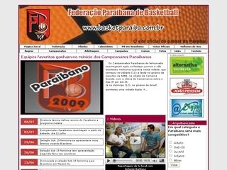 Thumbnail do site FPB - Federação Paraibana de Basketball