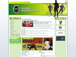 Thumbnail do site Federação Paraibana de Futebol de Salão