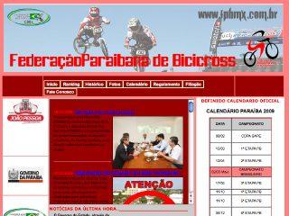 Thumbnail do site FPBMX - Federação Paraibana de Bicicross
