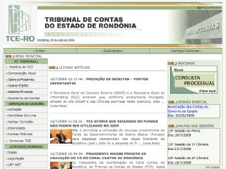 Thumbnail do site TCE RO - Tribunal de Contas do Estado de Rondônia