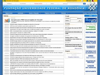 Thumbnail do site UNIR - Universidade Federal de Rondônia