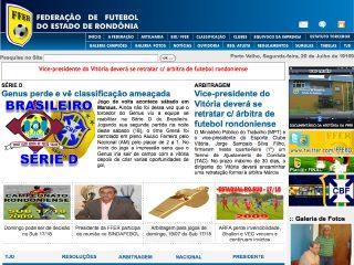 Thumbnail do site FFER - Federação de Futebol do Estado de Rondônia