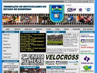 Thumbnail do site FMR - Federação de Motociclismo do Estado de Rondônia