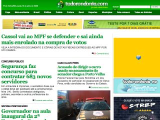 Thumbnail do site TudoRondônia.com