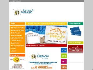 Thumbnail do site Barraca do Parracho - 25 anos