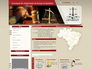 Thumbnail do site Associação dos Magistrados de Rondônia (AMERON)