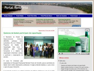 Thumbnail do site Portal Rondônia