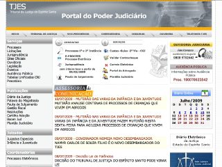 Thumbnail do site Portal do Poder Judiciário do Estado do Espírito Santo