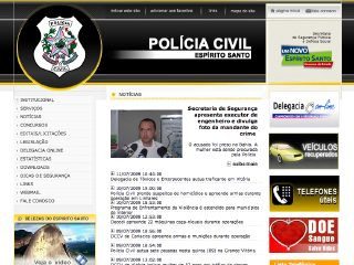 Thumbnail do site Polícia Militar do Estado do Espírito Santo