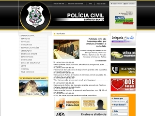 Thumbnail do site Polícia Civil do Estado do Espírito Santo