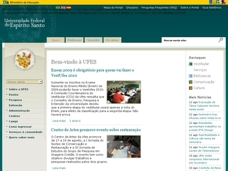 Thumbnail do site UFES - Universidade Federal do Espírito Santo