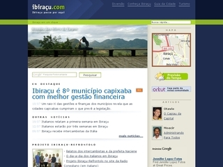 Thumbnail do site Ibiraçu.com