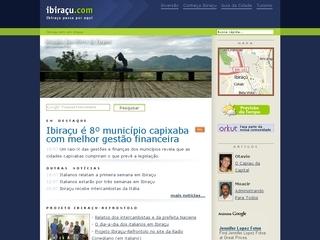 Thumbnail do site Ibiraçu.com