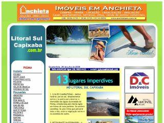 Thumbnail do site Litoral Sul Capixaba - Praias Hotéis Pousadas Imóveis