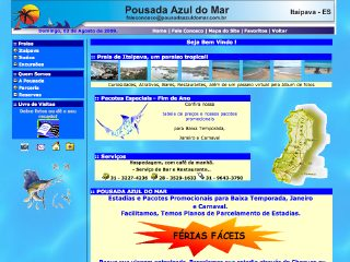 Thumbnail do site Pousada Azul do Mar