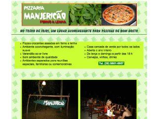 Thumbnail do site Pizzaria Manjericão