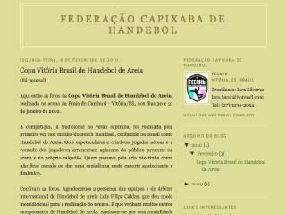 Thumbnail do site FECAHb - Federação Capixaba de Handebol