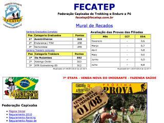 Thumbnail do site FECATEP - Federação Capixaba de Trekking e Enduro a Pé