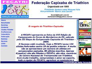 Thumbnail do site Federação Capixaba de Triatlo